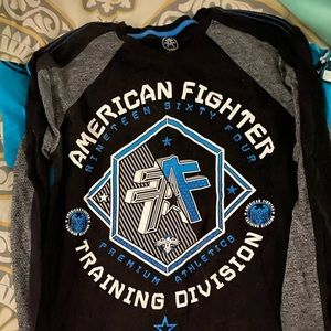 Long sleeve American fighter shirt large